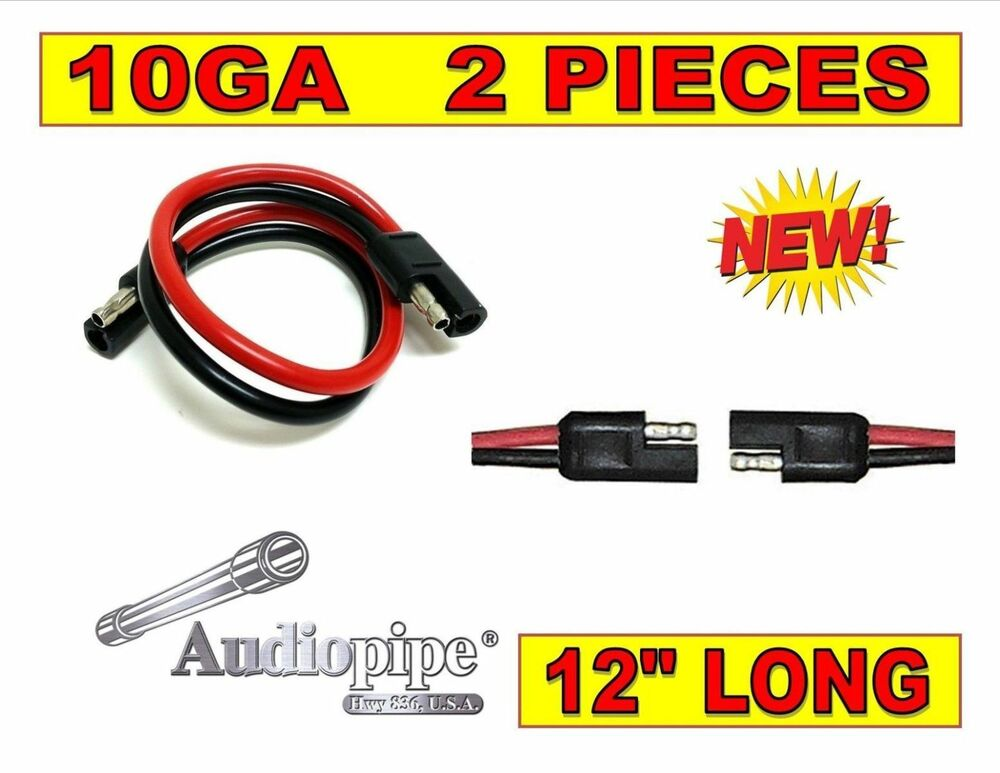 2 pack 12 quot inch disconnect connect 10 2 pin polarized wire harness ebay