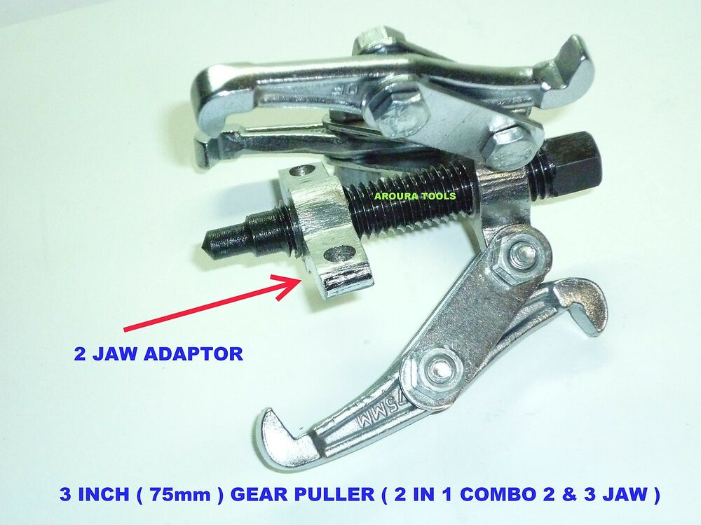 How Are Gear Pullers Measured : Gear puller inch in combination or arm brand