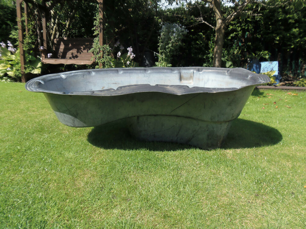 Large garden pond water feature preformed garden outdoors fish pond plastic ebay Preformed plastic pond
