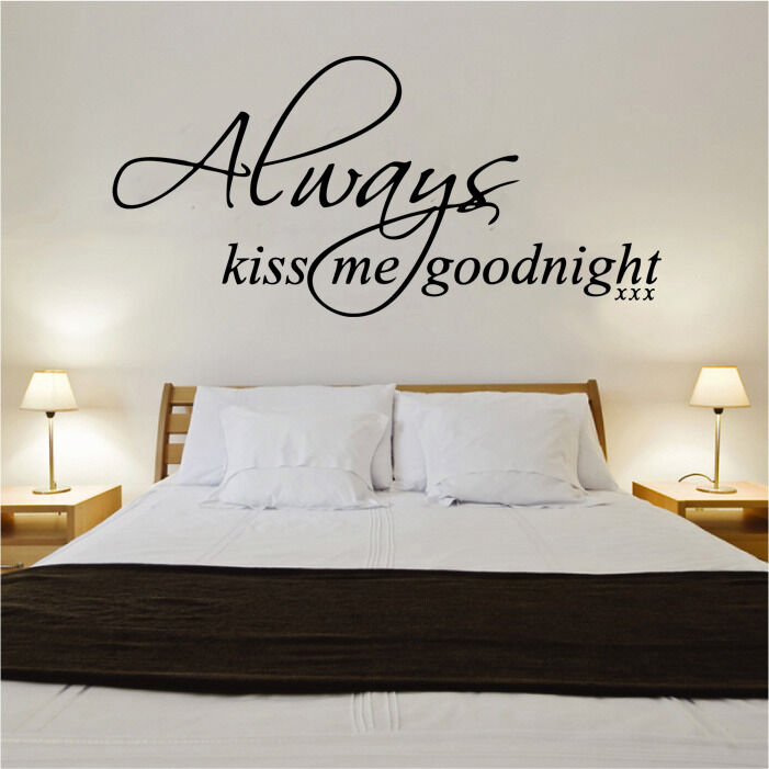 always kiss me goodnight quote decal vinyl wall sticker ebay