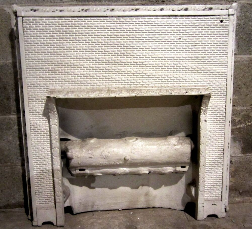 Antique cast iron fireplace insert gas logs ornate for Architecture antique
