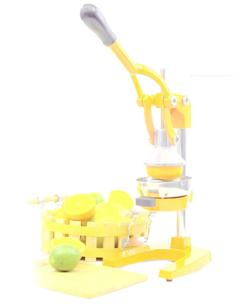 heavy duty press orange comercial manual citrus juicer juice extractor yellow ebay. Black Bedroom Furniture Sets. Home Design Ideas