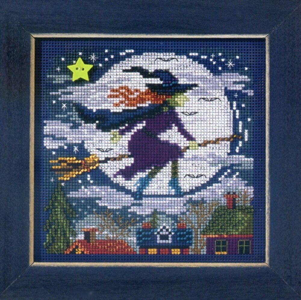 Witch way cross stitch kit mill hill buttons beads