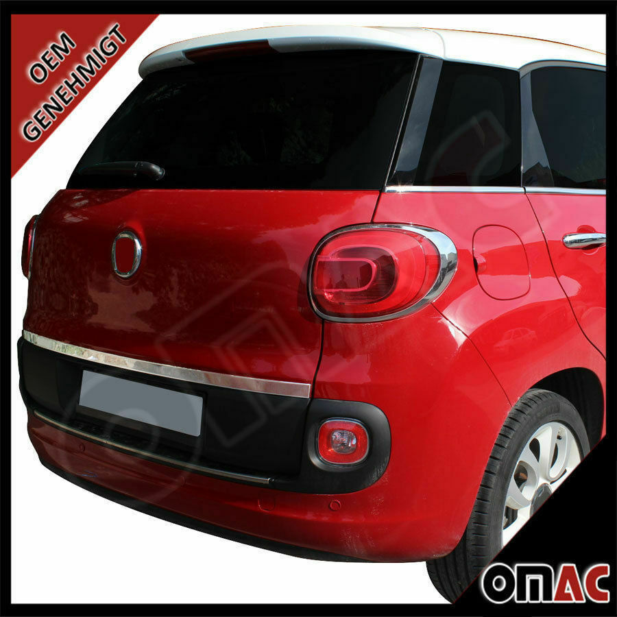 chrom heckleiste zierleiste edelstahl fiat 500l ab 2012 ebay. Black Bedroom Furniture Sets. Home Design Ideas
