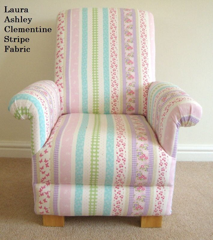 Laura Ashley Clementine Stripe Fabric Childs Chair ...