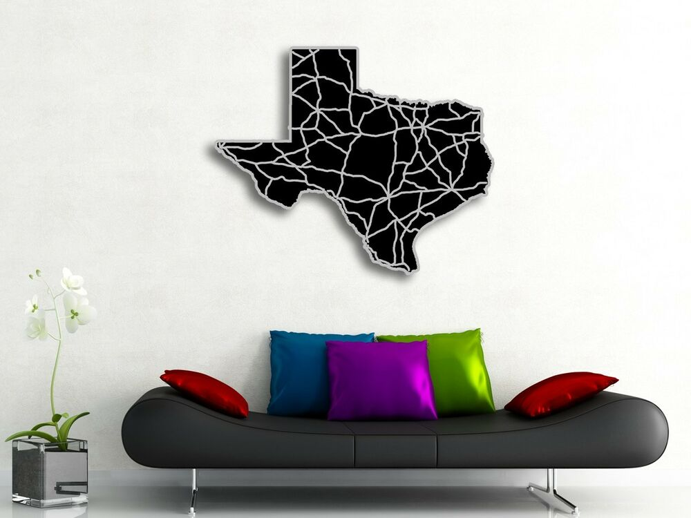 Texas Map Acrylic Wall Art Abstract TX State Engraved ...
