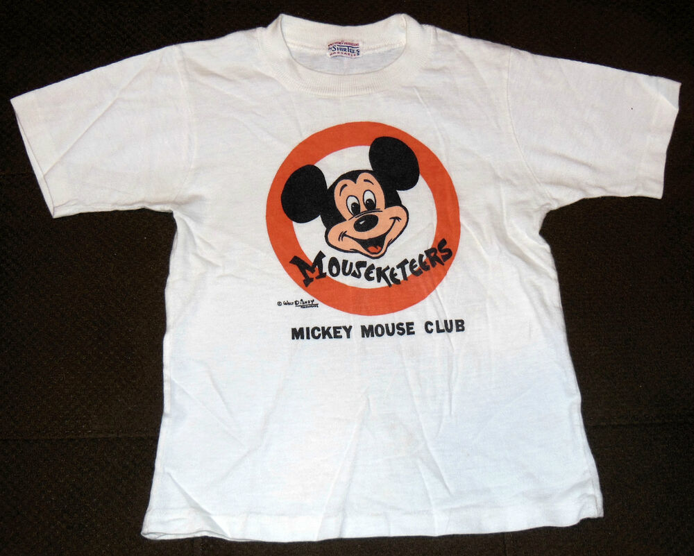 vintage shirt 1950s mouseketeers mickey mouse club walt