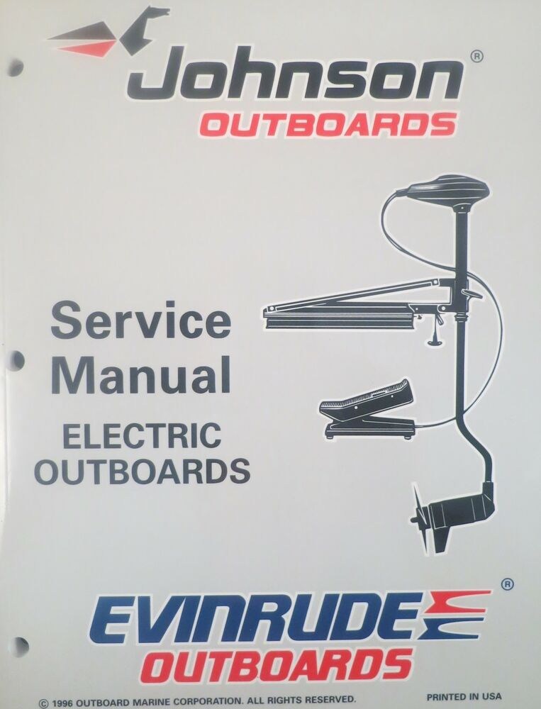 1997 Johnson Evinrude Electric Outboard Trolling Motor