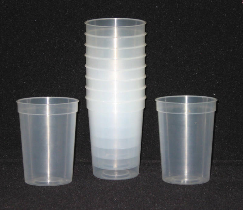 12 small plastic drinking glasses cups color clear 12 oz for Small plastic cups