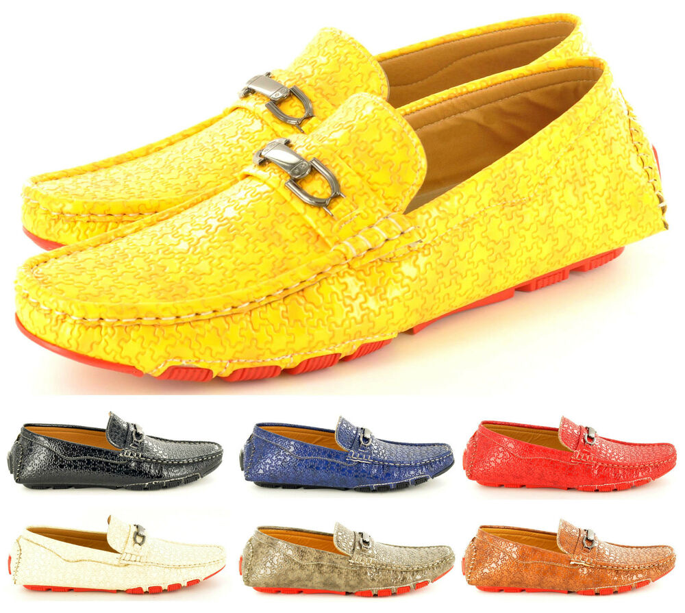 new mens casual loafers moccasins slip on driving shoes in