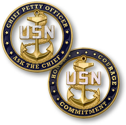 Chief Petty Officer Ask The Chief Challenge Coin Usn Us