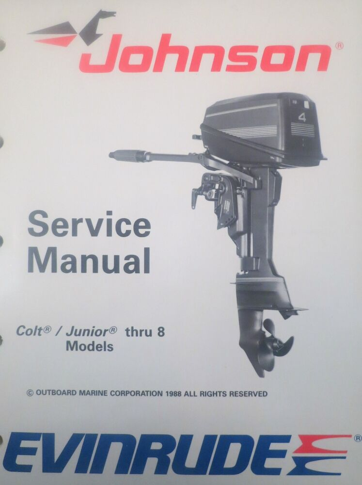 1989 johnson evinrude colt junior 2 3 4 5 6 8 hp outboard for Johnson outboard motor repair