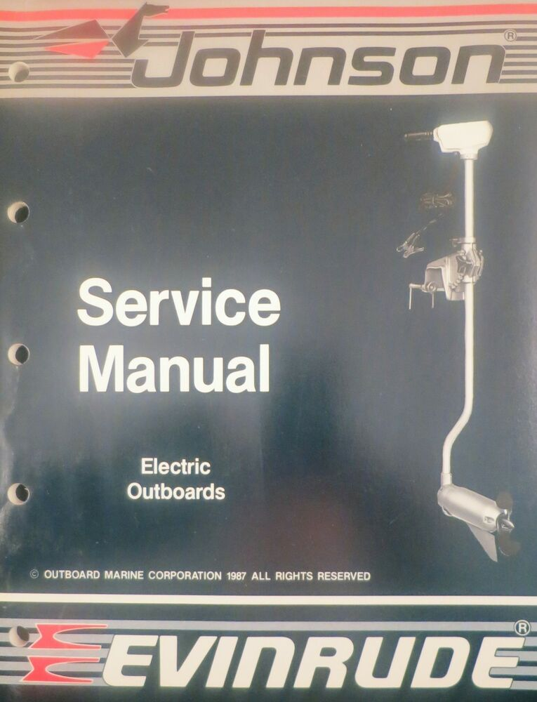 1988 johnson evinrude electric outboard trolling motor for How to service johnson outboard motor