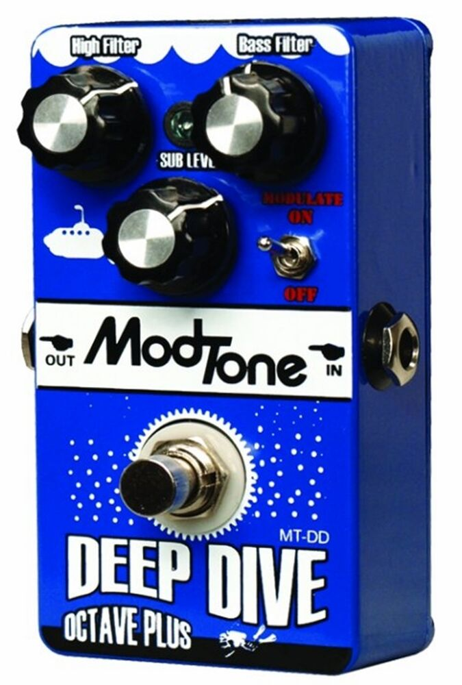 modtone deep dive guitar effects pedal octave pedal ebay. Black Bedroom Furniture Sets. Home Design Ideas