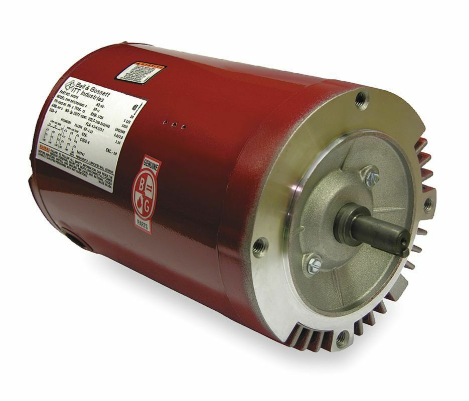 1 1 2 hp 1725 rpm 208 230 460v bell gossett electric for 1 2 hp ac motor