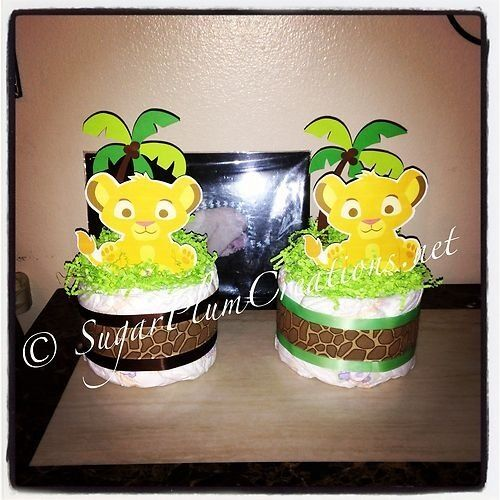 lion king baby simba sugar diaper cake mini baby shower ebay