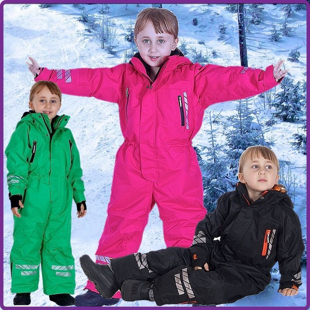 schneeoverall schneeanzug winteranzug skianzug kinder skioverall winter 86 140 ebay. Black Bedroom Furniture Sets. Home Design Ideas