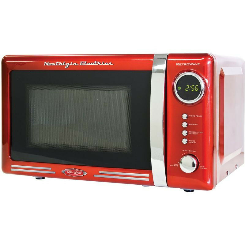 Retro Red 0 7 Cu Ft Countertop Microwave Compact