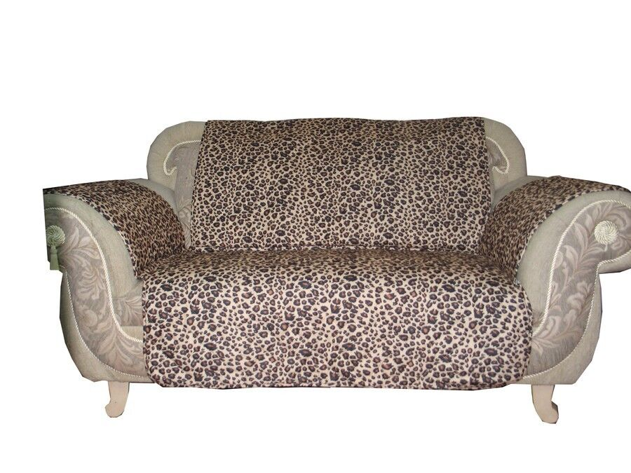 Leopard Pattern Quilted Micro Suede Pet Dog Sofa Loveseat Slip Cover Protector Ebay