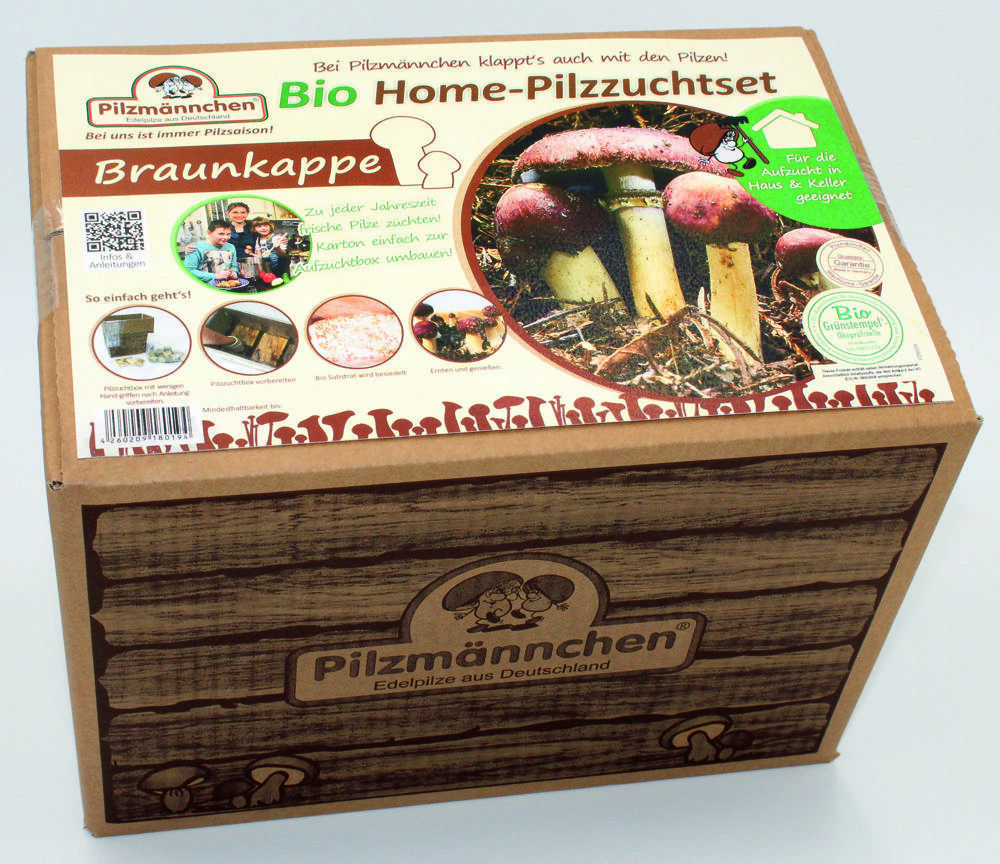 braunkappe bio home pilzzuchtset ganzj hrig pilze z chten im zuchtkarton ebay. Black Bedroom Furniture Sets. Home Design Ideas