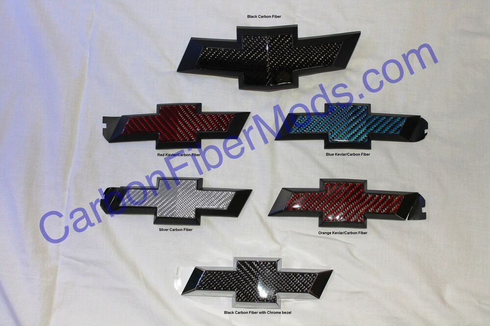 2010 2013Chevy Camaro Carbon Fiber Rear Bowtie Emblems
