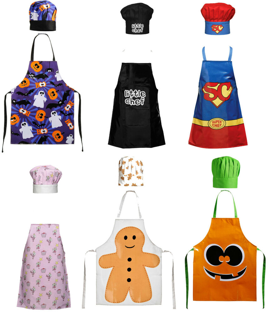 Childrens kids kitchen apron butcher chef apron in 6 new for Apron designs and kitchen apron styles