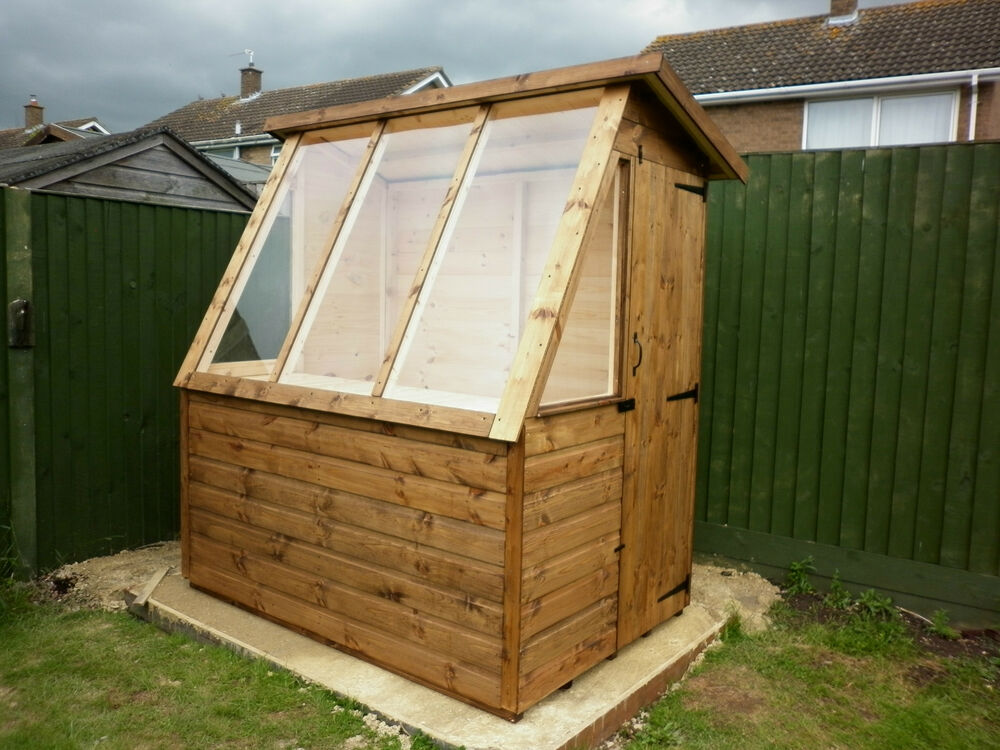 6x4 quality t g wooden greenhouse potting shed ebay for Buy potting shed