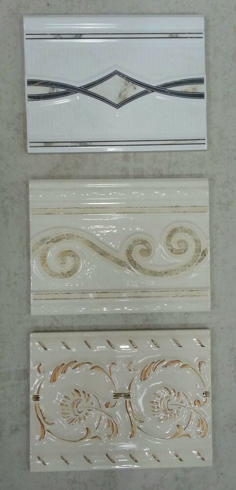 200x150mm Decorative Ceramic Tile Borders Choice Of 6 Ebay