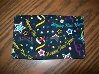 Colorful Happy New Year Confetti Single Tissue Package Holder Purse Desk Pocket