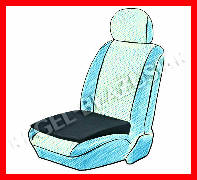 seat support wedge height booster car cushion adult black ebay. Black Bedroom Furniture Sets. Home Design Ideas