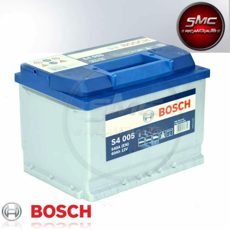 batteria auto bosch s4 005 60ah 12v dx 540a en ebay. Black Bedroom Furniture Sets. Home Design Ideas