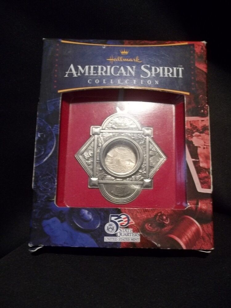 hallmark rhode island american spirit 2001 state quarter ornament nib ebay. Black Bedroom Furniture Sets. Home Design Ideas