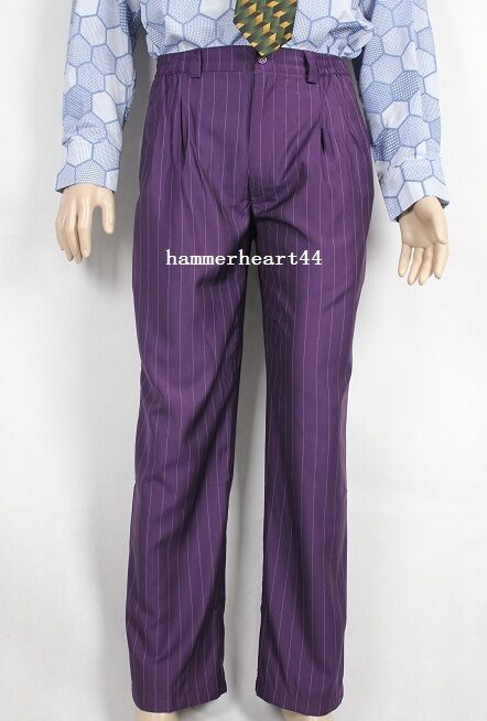 joker purple pants costume halloween tdk ebay. Black Bedroom Furniture Sets. Home Design Ideas