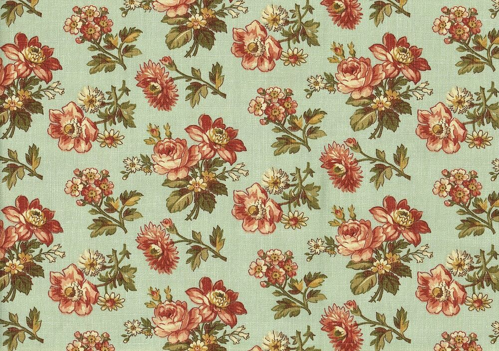 Waverly fabric fox trot cotton floral print drapery for Floral upholstery fabric