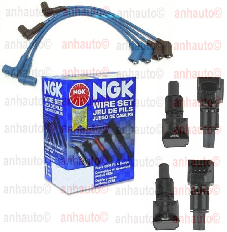 4 ignition coil coils ngk japan wire set mazda rx8 2004 to 2008 ebay