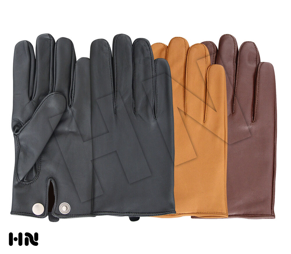 Mens leather driving gloves ireland - Men 039 S Slim Fit Driving Gloves Chauffeur Lambskin Leather Dress Fashion Classic Ebay