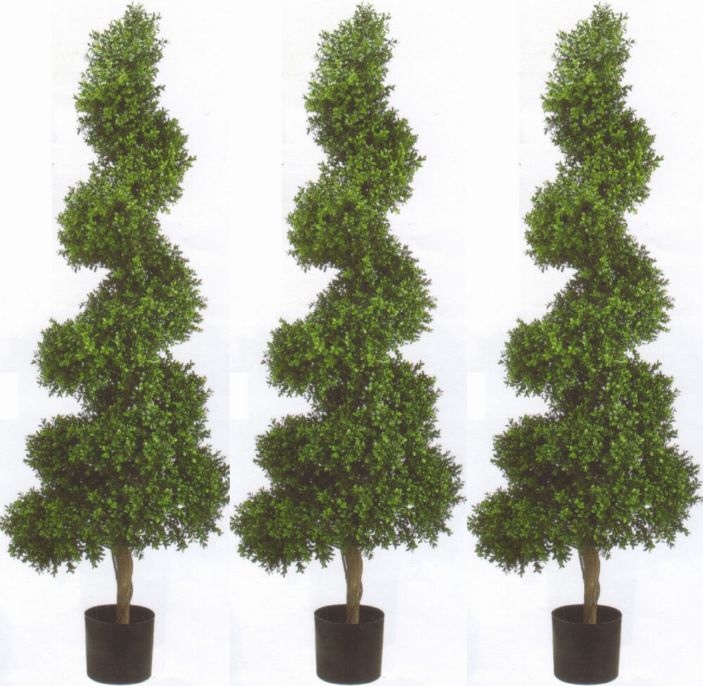 3 Topiary Artificial 6 Outdoor Wide Spiral Uv Boxwood