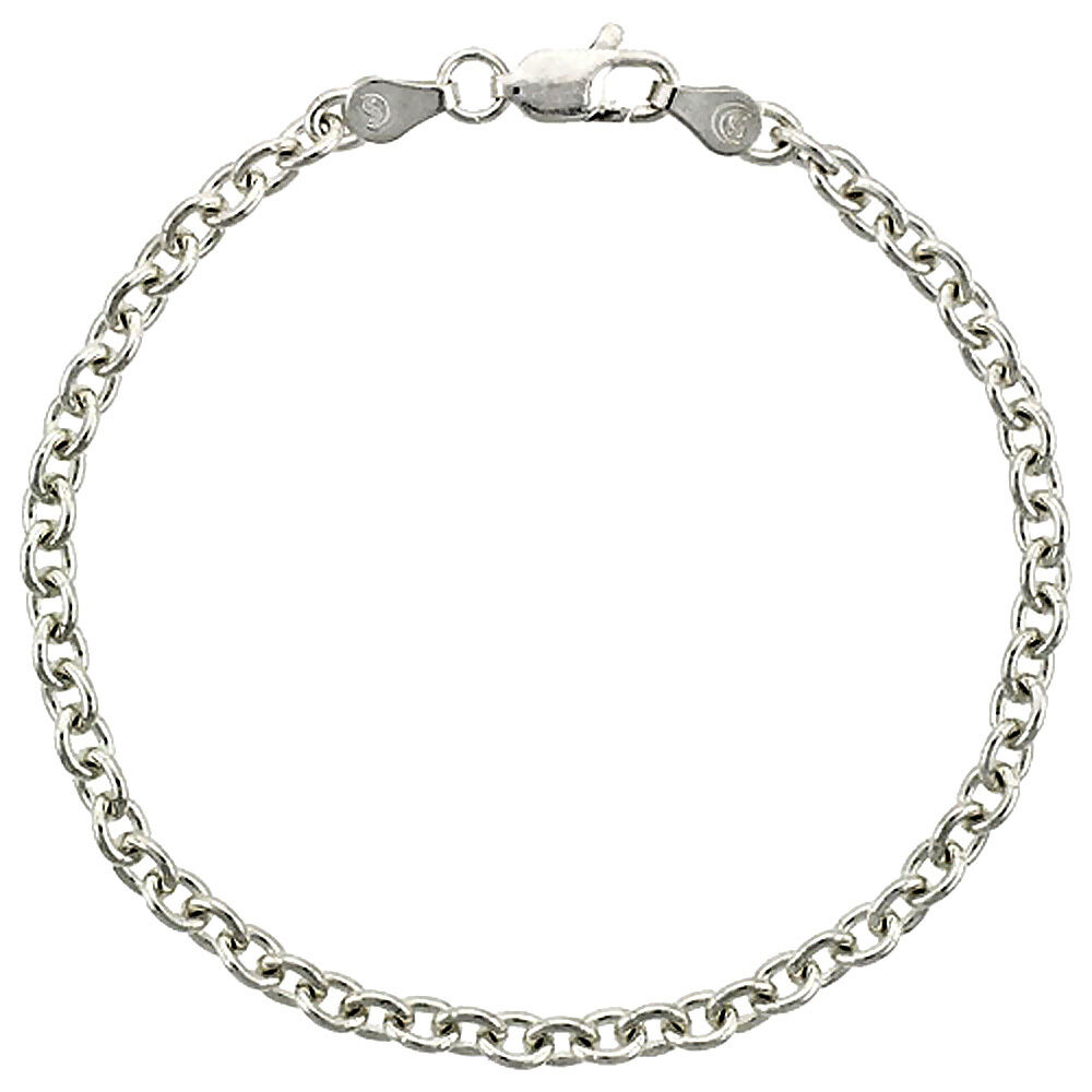 Sterling Silver Italian Classic Cable Chain Necklace Or