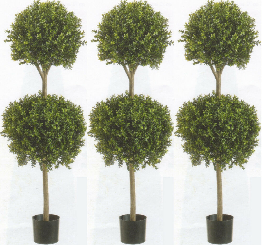 boxwood topiary trees 3 artifiical 56 quot boxwood 2 topiary tree plant outdoor 1773