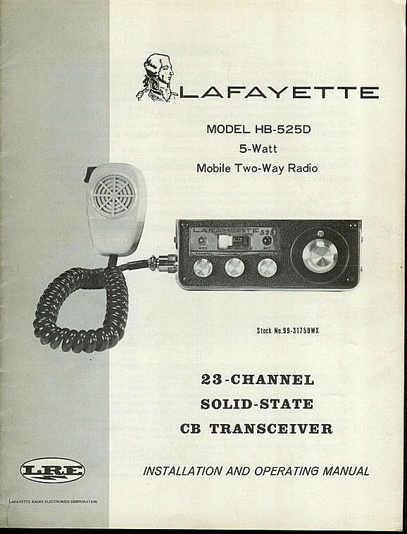 Lafayette hb 525d 23 channel cb radio original factory owner 39 s manual ebay - La finestra lafayette ...