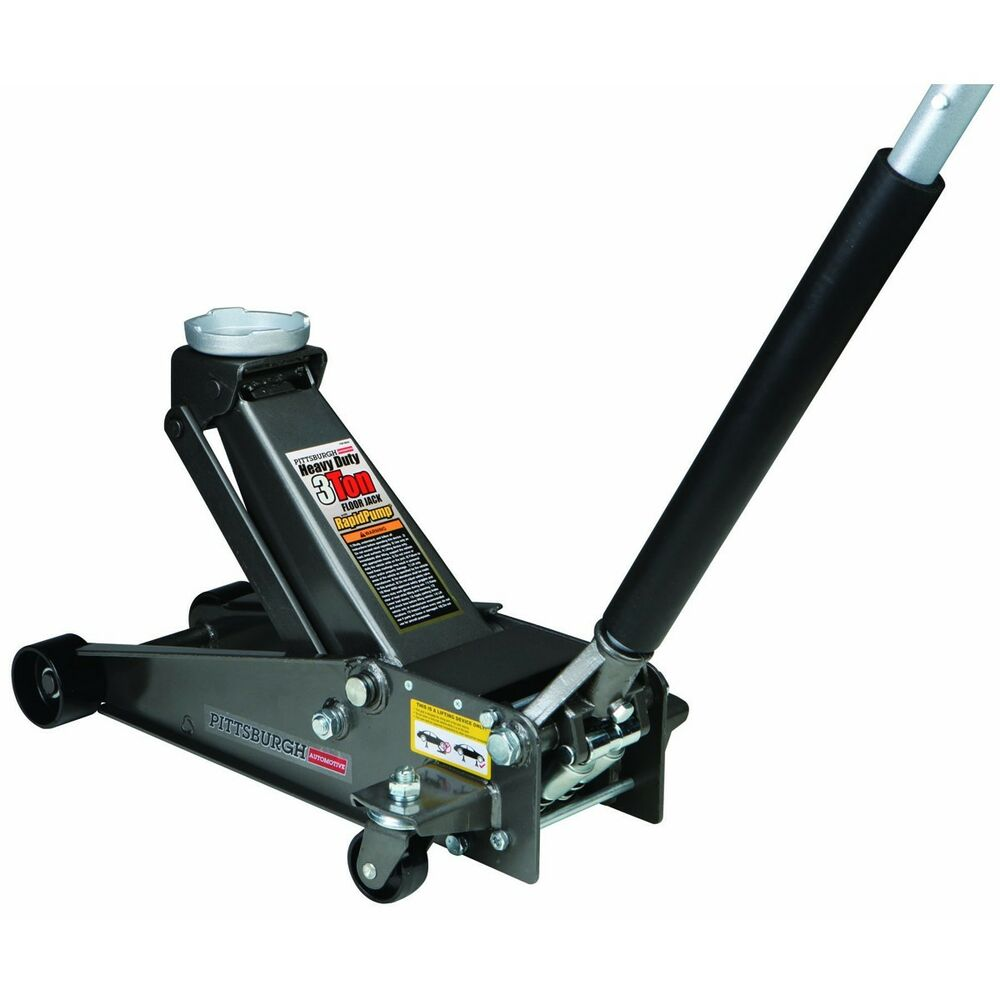 No Tax 3 Ton Heavy Duty Steel Floor Jack W Rapid Pump No