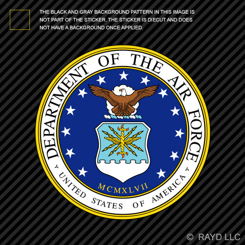 Department Of The Air Force Seal Sticker Decal Self
