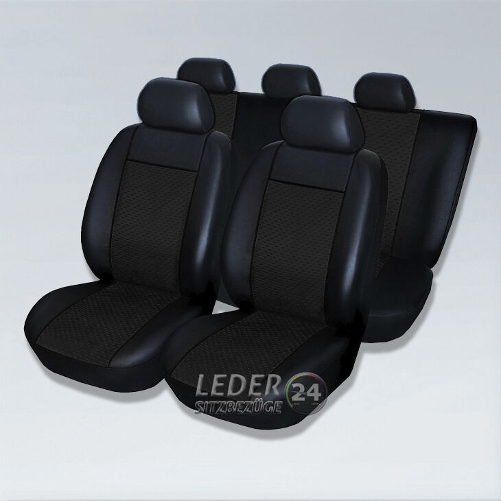 alcantara x5 sitzbez ge premium leder schwarz bmw 3er e30 e36 e46 e90 ebay. Black Bedroom Furniture Sets. Home Design Ideas