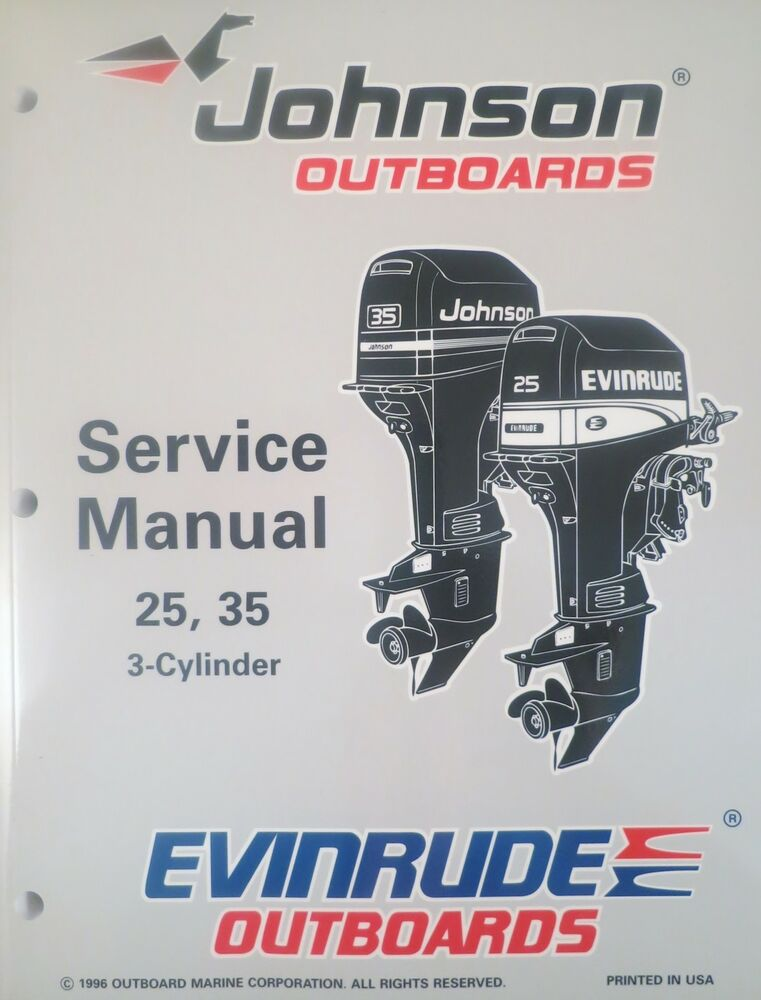 1997 Johnson Evinrude 25 35 Hp 3 Cylinder Outboard Factory