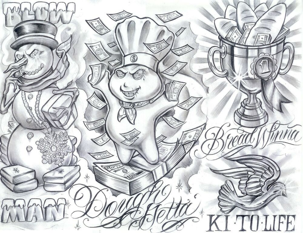 Tattoo Flash Art Black And White Guitar: 1000 BLACK AND GRAY Printable Tattoo Flash SHEETs On A CD
