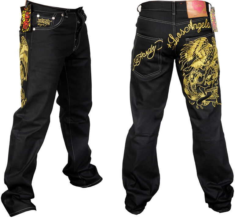 Mens Ed Hardyu0026#39;s Los Angeles Hunter Hawk Jeans All Sizes ...