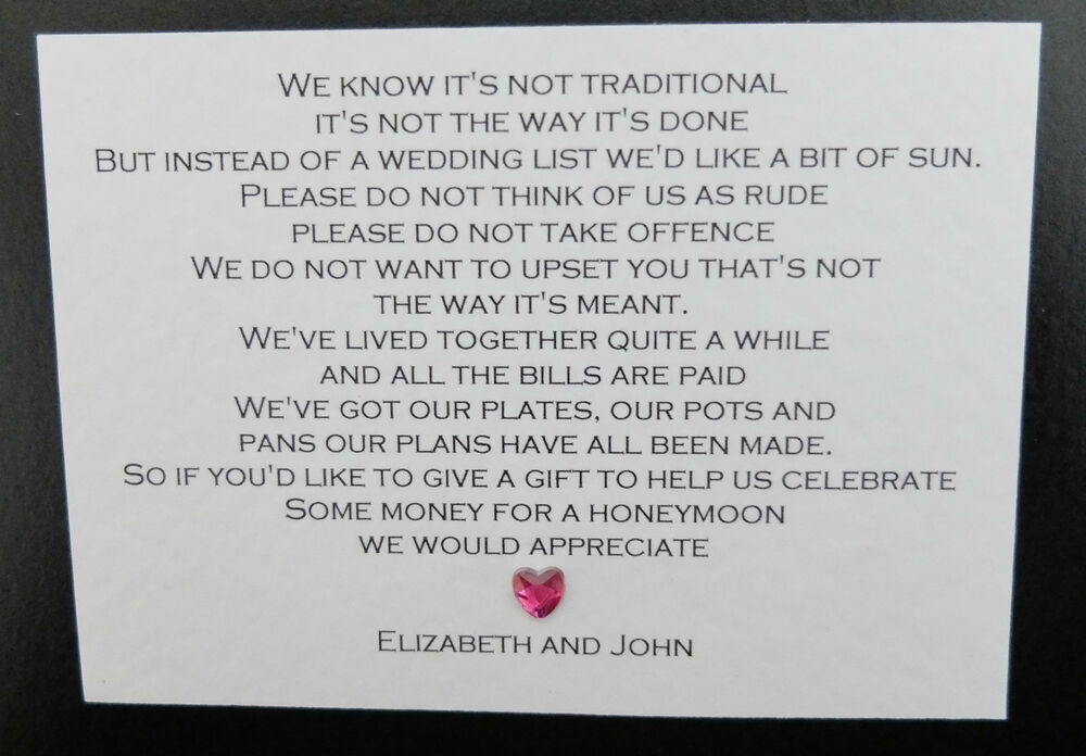 Poems For Wedding Invitations Asking For Money: 10 X Handmade Personalised Wedding Honeymoon Money Cash