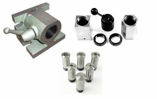 5C H/V ANGLE COLLET FIXTURE & 5pc 5C HEX & SQUARE COLLET ...