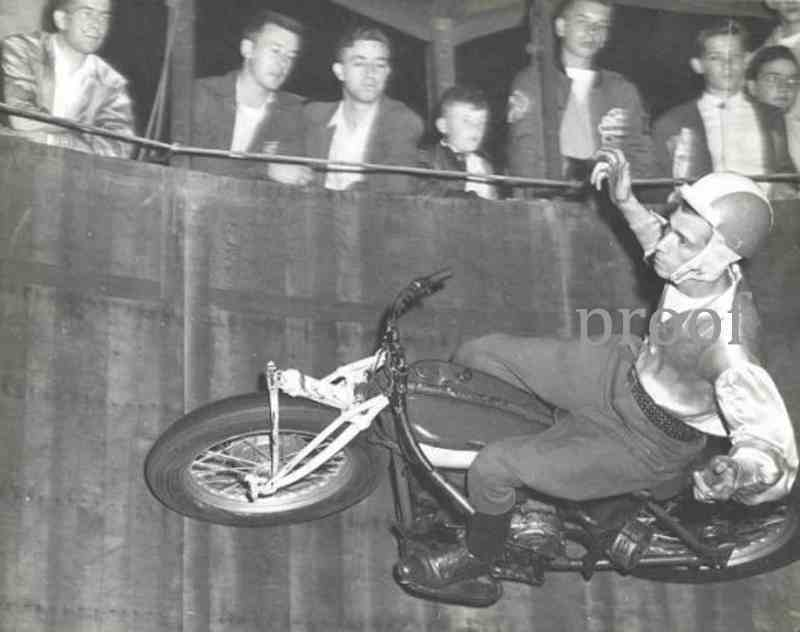 Ebay Motors Motorcycles >> Wall Of Death Male Motorcycle Daredevlls old photo Vintage ...