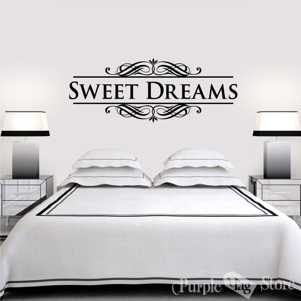 Sweet Dreams Vinyl Art Home Wall Bedroom Letters Quote